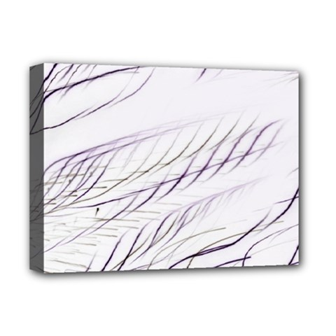 Lilac Stripes Deluxe Canvas 16  X 12
