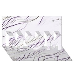 Lilac Stripes Mom 3d Greeting Card (8x4) by picsaspassion