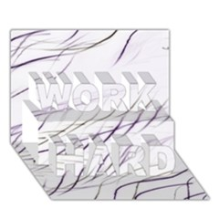 Lilac Stripes Work Hard 3d Greeting Card (7x5) by picsaspassion
