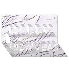 Lilac Stripes Happy New Year 3d Greeting Card (8x4)