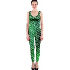 Green Abstract Forest Onepiece Catsuit by DanaeStudio