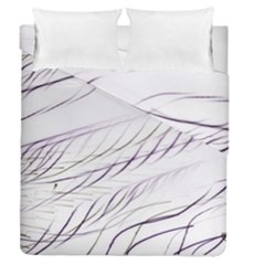 Lilac Stripes Duvet Cover Double Side (queen Size)