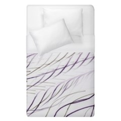 Lilac Stripes Duvet Cover Single Side (single Size) by picsaspassion