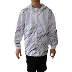 Lilac Stripes Hooded Wind Breaker (kids) by picsaspassion