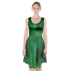 Ombre Green Abstract Forest Racerback Midi Dress by DanaeStudio