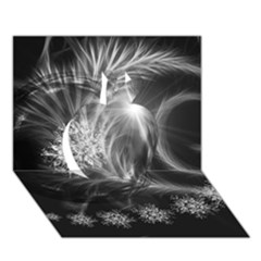 Silver Feather And Ball Decoration Apple 3d Greeting Card (7x5) by picsaspassion