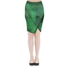 Green Abstract Forest Midi Wrap Pencil Skirt by DanaeStudio