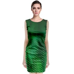 Ombre Green Abstract Forest Classic Sleeveless Midi Dress by DanaeStudio