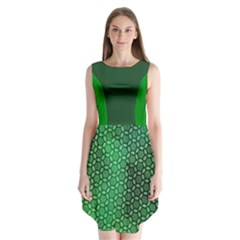 Green Abstract Forest Sleeveless Chiffon Dress   by DanaeStudio