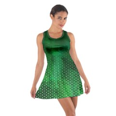 Ombre Green Abstract Forest Cotton Racerback Dress by DanaeStudio
