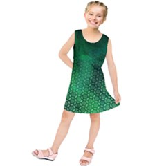 Ombre Green Abstract Forest Kids  Tunic Dress by DanaeStudio
