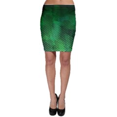 Ombre Green Abstract Forest Bodycon Skirt by DanaeStudio