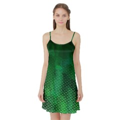 Ombre Green Abstract Forest Satin Night Slip by DanaeStudio