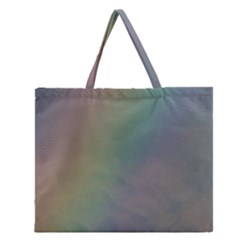 Between The Rainbow Zipper Large Tote Bag