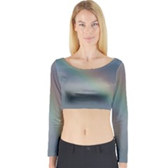 Rainbow In The Sky Long Sleeve Crop Top by picsaspassion