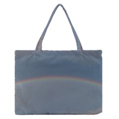 Colorful Rainbow Medium Zipper Tote Bag