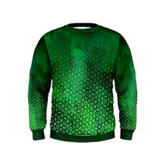 Ombre Green Abstract Forest Kids  Sweatshirt by DanaeStudio