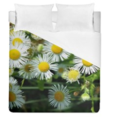 White Summer Flowers Oil Painting Art Duvet Cover Single Side (queen Size) by picsaspassion