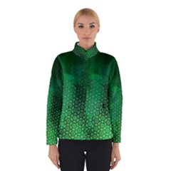 Ombre Green Abstract Forest Winter Jacket by DanaeStudio