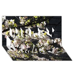 Japanese Cherry Blossom Merry Xmas 3d Greeting Card (8x4) by picsaspassion