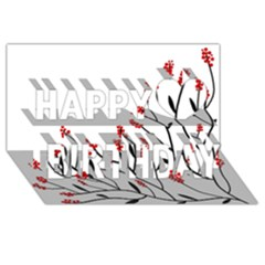 Elegant Tree Happy Birthday 3d Greeting Card (8x4) by Valentinaart