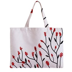 Elegant Tree Zipper Mini Tote Bag by Valentinaart