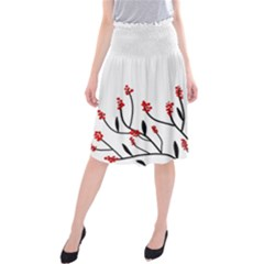 Elegant Tree Midi Beach Skirt by Valentinaart
