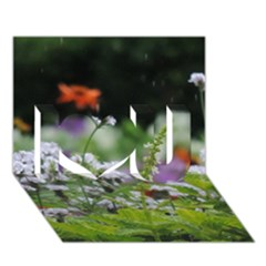 Wild Flowers I Love You 3d Greeting Card (7x5) by picsaspassion