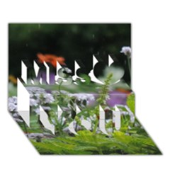 Wild Flowers Miss You 3d Greeting Card (7x5)