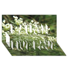 White Summer Flowers Laugh Live Love 3d Greeting Card (8x4)
