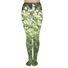 White Summer Flowers Women s Tights by picsaspassion