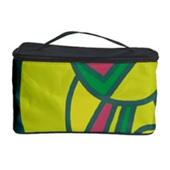 Green Abstract Decor Cosmetic Storage Case