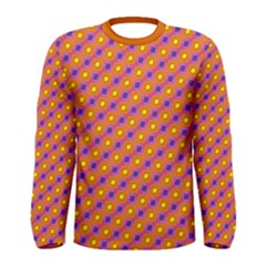 Vibrant Retro Diamond Pattern Men s Long Sleeve Tee by DanaeStudio