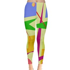 Colorful Abstract Art Leggings  by Valentinaart