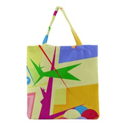 Colorful Abstract Art Grocery Tote Bag by Valentinaart