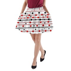 Dots And Lines A Line Pocket Skirt