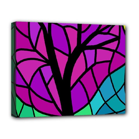 Decorative Tree 2 Deluxe Canvas 20  X 16   by Valentinaart