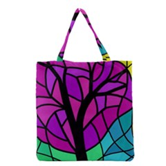 Decorative Tree 2 Grocery Tote Bag by Valentinaart