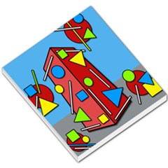 Crazy Building Small Memo Pads by Valentinaart