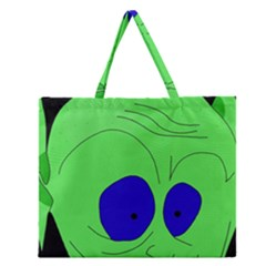 Alien By Moma Zipper Large Tote Bag by Valentinaart