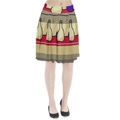 Decorative Art Pleated Skirt