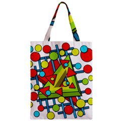 Crazy Geometric Art Zipper Classic Tote Bag by Valentinaart
