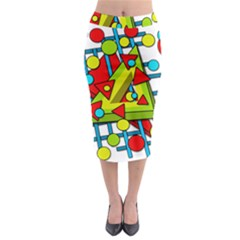 Crazy Geometric Art Midi Pencil Skirt by Valentinaart