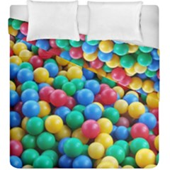 Funny Colorful Red Yellow Green Blue Kids Play Balls Duvet Cover Double Side (king Size)