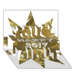 Happy New Year 2017 Gold White Star You Did It 3d Greeting Card (7x5) by yoursparklingshop