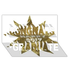 Happy New Year 2017 Gold White Star Congrats Graduate 3d Greeting Card (8x4) by yoursparklingshop