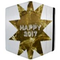 Happy New Year 2017 Gold White Star Apple iPad Mini Flip Case View4