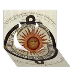 Ancient Aztec Sun Calendar 1790 Vintage Drawing Heart 3d Greeting Card (7x5) by yoursparklingshop