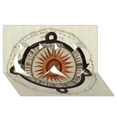 Ancient Aztec Sun Calendar 1790 Vintage Drawing Twin Hearts 3d Greeting Card (8x4) by yoursparklingshop