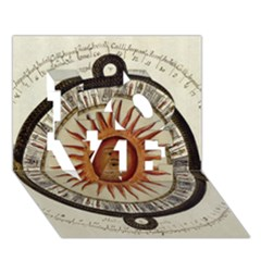 Ancient Aztec Sun Calendar 1790 Vintage Drawing Love 3d Greeting Card (7x5) by yoursparklingshop